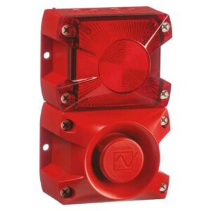 PA X 1-05 Sounder Beacon, Red Xenon, 24 V dc