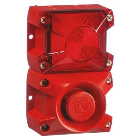 PA X 1-05 Sounder Beacon, Red Xenon, 24 V dc
